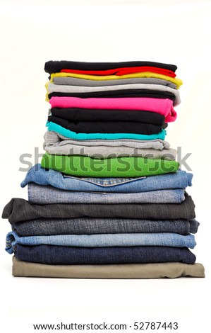 Stacked clothes