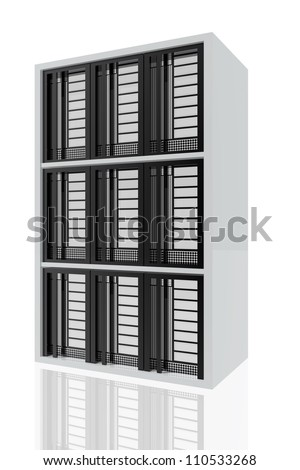 Stacked computer servers