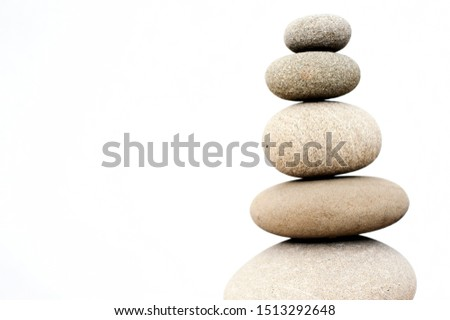 Stacked harmony stones in zen balance