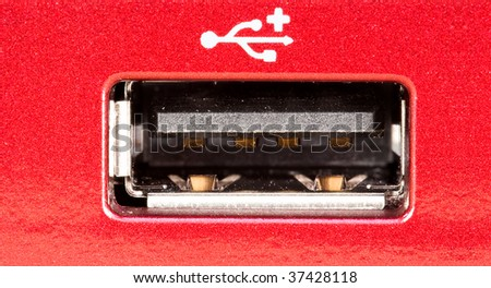Stacked macro of a usb port