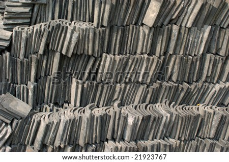 Stacked roof tilings