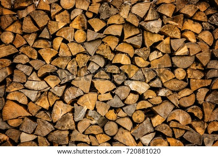 stacked wood for fireplace #720881020
