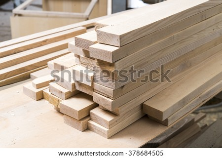 stacked wood harvesting in joinery