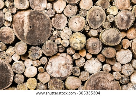 Stacked wood pine timber for construction buildings Background, Background of stacked timber logs.
