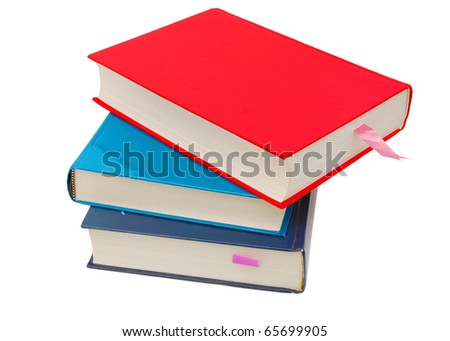 Stacking of three valuable books