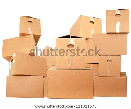Stacking on cardboard boxes