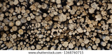 Stacking wood in stacks. Background - Image #1368760715