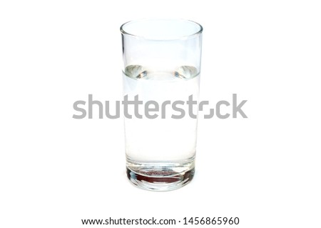 Stackpn clear clear water isolated on a white