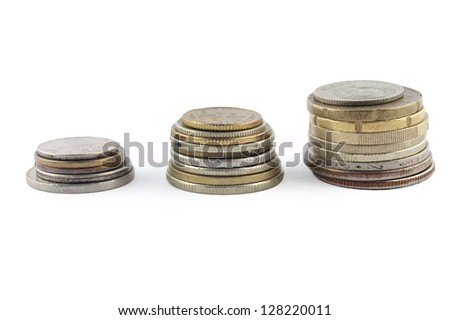 Stacks of Coins. Money and finance series.