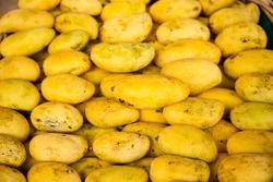 Stacks of ripe Philippines mangoes