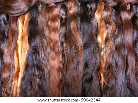 stacks of wavy hair extension