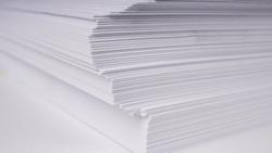 Stacks of white plain paper. white background