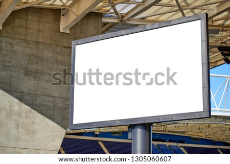 Stadium Billboard with Blank White Isolated Clipping Path #1305060607