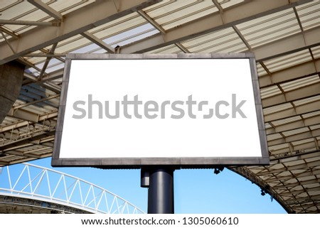 Stadium Billboard with Blank White Isolated Clipping Path #1305060610