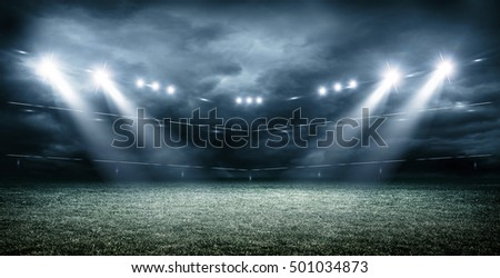 stadium ,dark clouds ,3d rendering