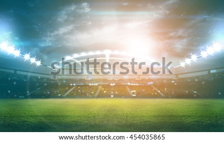 Stadium. digital effect 3D rendering. #454035865