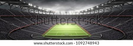 stadium imaginary 3d rendering #1092748943