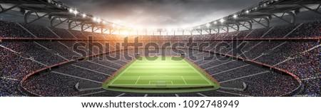 stadium imaginary 3d rendering #1092748949
