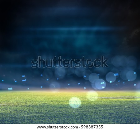 stadium in lights 3D