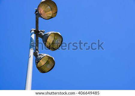 Lamp post ,electricity industry, Light stadium or Sports lighting