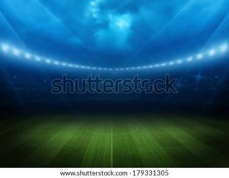 Stadium light - Shutterstock ID 179331305