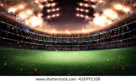 Shutterstock stadium light 3d
