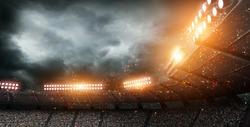 stadium light 3d rendering