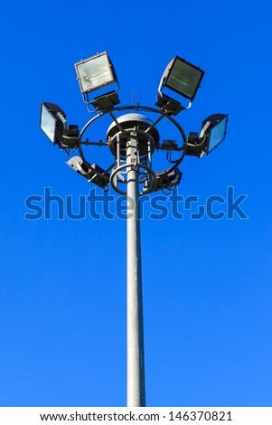 Stadium light pole