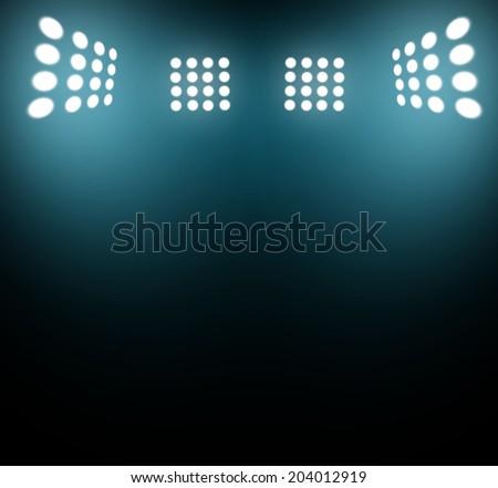 stadium lights at night and stadium
