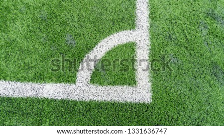 Stadium of football or soccer field with green grass #1331636747
