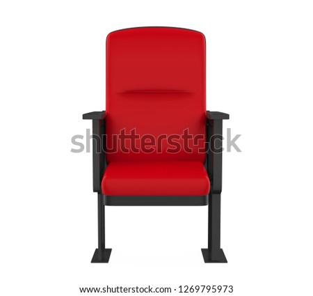 Stadium Seats Isolated. 3D rendering