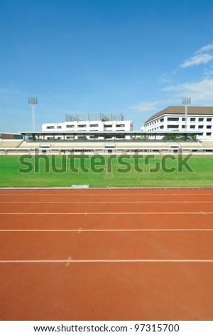 stadium way grid race grass