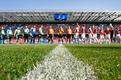 stadium with players before the match