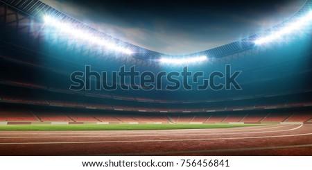 Stadium with running track