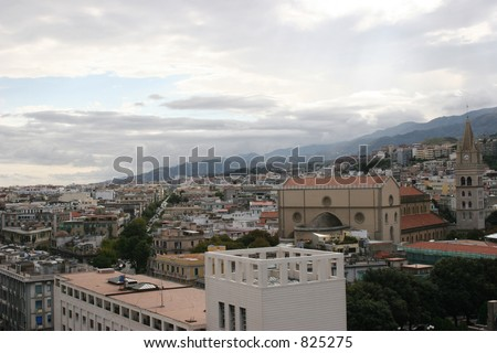 Stadt von Messina, Italien - stock photo
