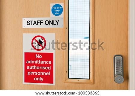 Security Doors Security Door Signage