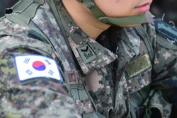 Staff sergeant insignia of the South Korea Army Military Uniform