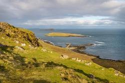 Staffin Slipway on the Isle of Skye in Scotland