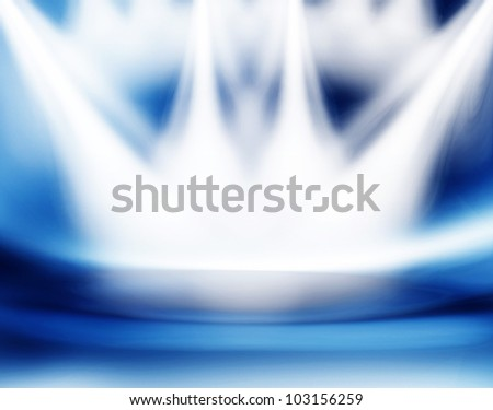 stage blue - stock photo