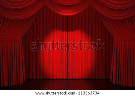 Stage curtain with spot light - High quality render