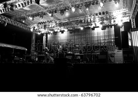 Stage in Lights DARK 2 - Black and White