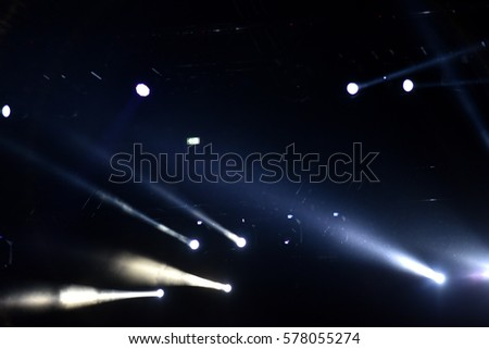 Stage lights at a live concert #578055274