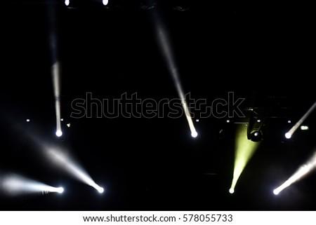 Stage lights at a live concert #578055733