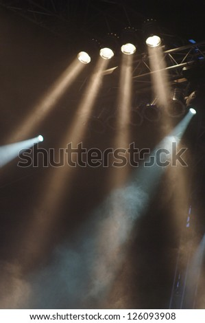 stage lights at an open air concert