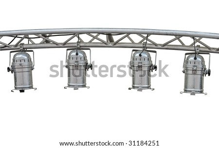 stage lights isolated