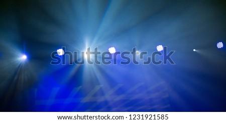 Stage lights. Soffits. Concert light #1231921585