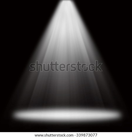 Stage spot light for product show room mock up display back drop background. Illustration.