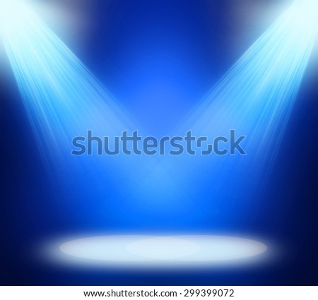 stage spot lighting over blue background. #299399072