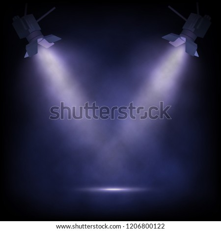 Stage witt spotlights. Theater or show background.