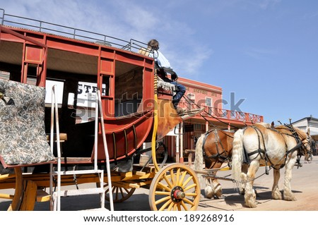 stagecoach in tombstone  arizona